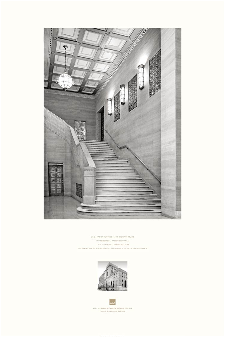 poster of the Federal Building and US Courthouse, Pittsburgh, PA