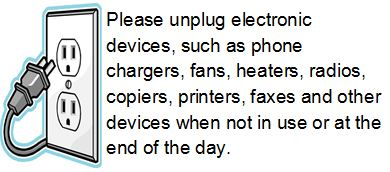 Unplug electronic devices