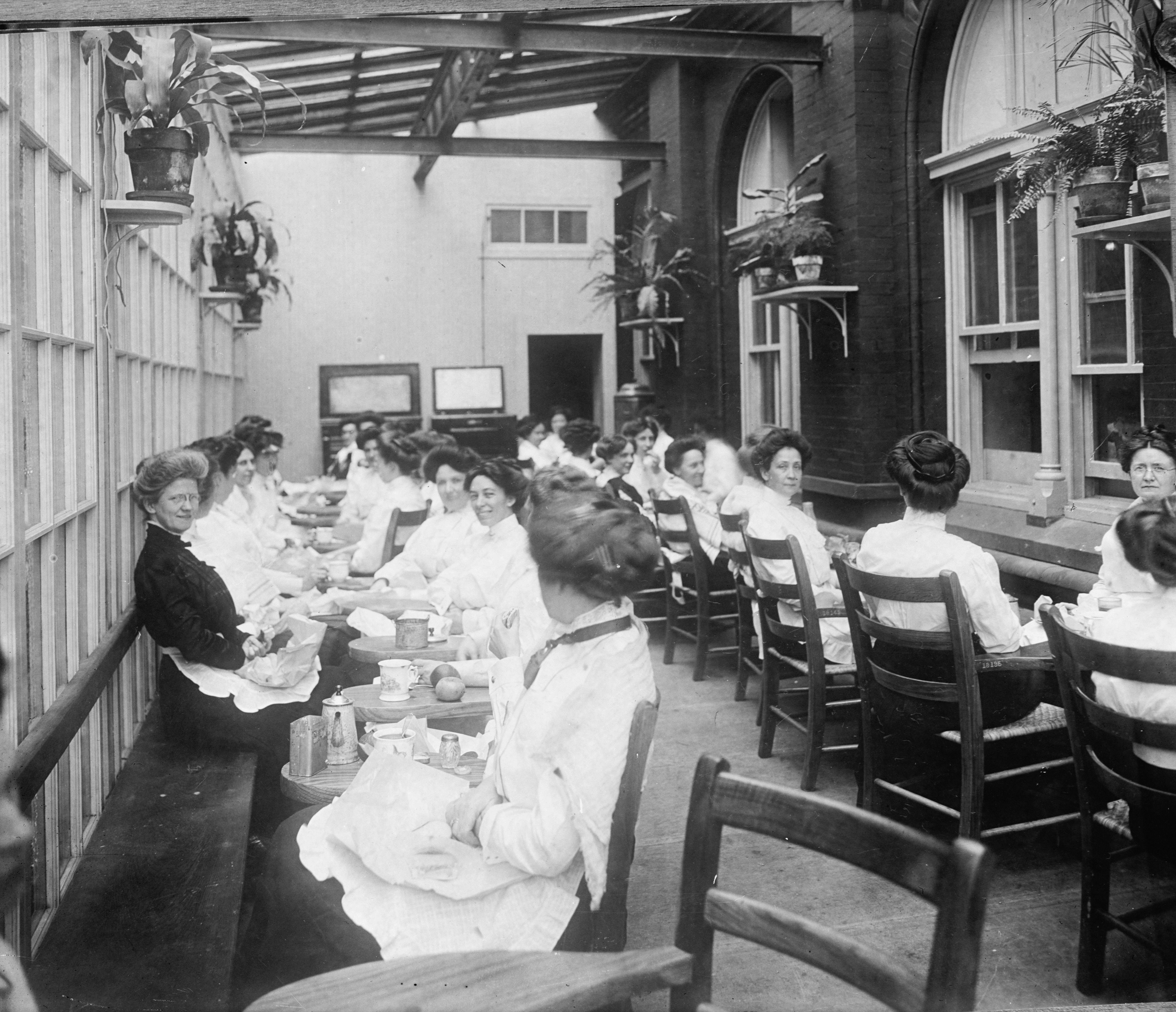Bureau of Engraving & Printing Dining Hall, c. 1900.