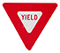 Graphic that represents the Yield sign