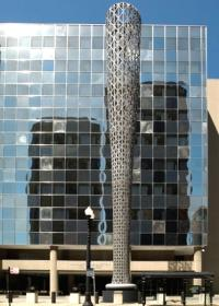 View of the Batcolumn oustside the Harold Washington Social Security Center