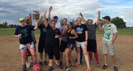 Photo of the champion 2014 DFC kickball team