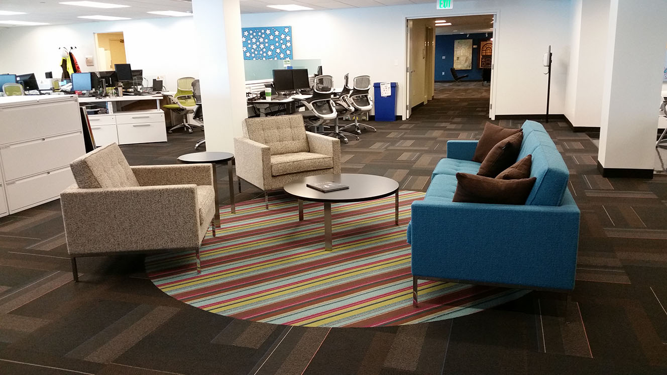 Bringing the comforts of home into the workplace with the Union Station  Lounge Furniture. Rocky Mountain Region Newsroom