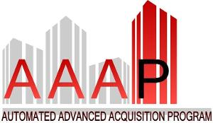 AAAP Logo with buildings in the background