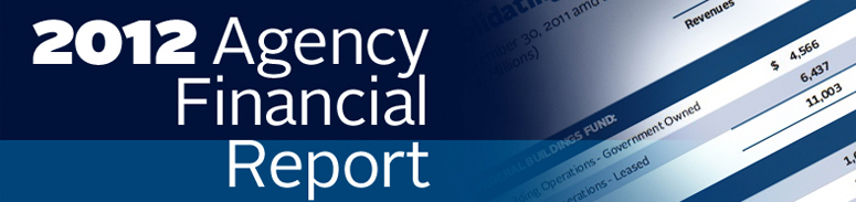 2012 Agency Financial Report