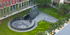 aerial photo of African Burial Ground National Monument, New York, NY