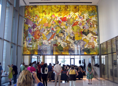 Photo of artwork inside New Austin Courthouse.