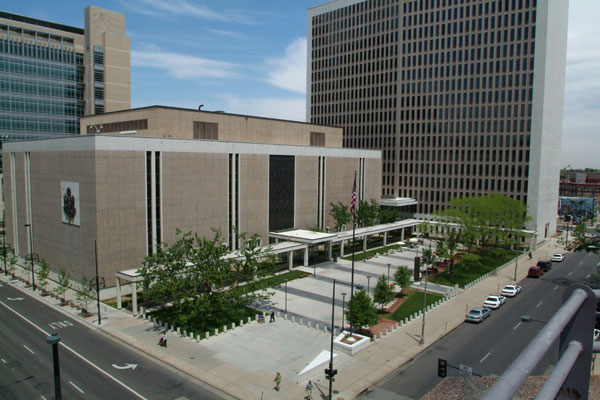 Exterior image of Byron G. Rogers Federal Building