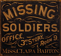 Clara Barton Missing Soldiers Office Sign