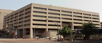 Street-level exterior view of Bricker Federal Building