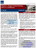 Thumbnail image of Burger U.S. Courthouse tenant newsletter, February 2015 edition