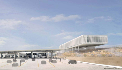 Architect's rendering of Calexico West Land Port of Entry