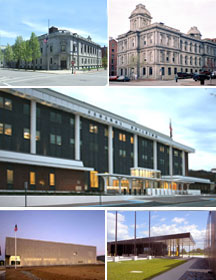 Collage of Maine federal buildings