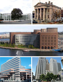 Collage of Massachusetts federal buildings