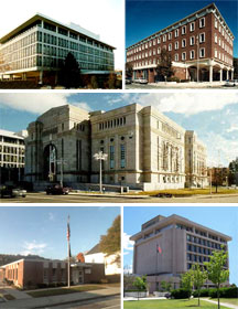 Collage of New Hampshire federal buildings