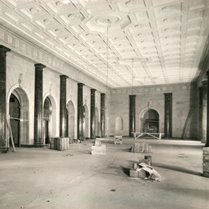 Construction of the original Patent Search Room, c. 1931. Today, this space services as the White House Visitor's Center.