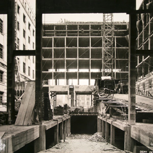 Construction of the Commerce building, 1930