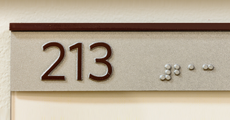 Image a braille wall placard