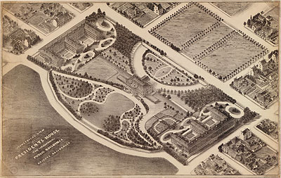 Map of White House Neighborhood circa 1855.