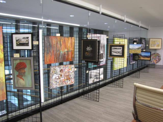 Display of some 2015 Employee Art Show submissions