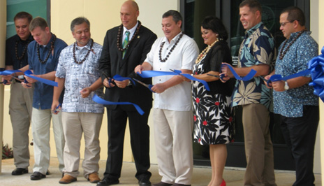 Officials cut the ribbon in Tamuning, Guam