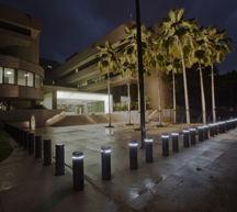 Prince Jonah Kuhio Kalanianaole Federal Building and U.S. Courthouse at night