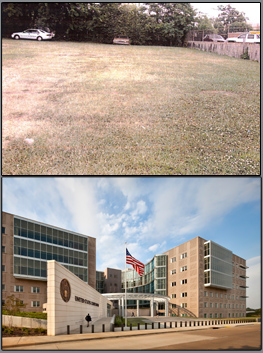 before and after pictures of Jackson, Missisippi Courthouse