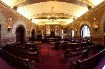 Full interior shot of the Million Dollar Courtroom