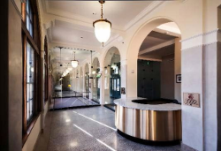 Photograph of entryway at Wayne N. Aspinall Federal Building