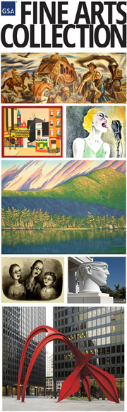 A Montage of artworks from GSA's Fine Arts Collection