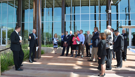 Group tours the John M. Roll U.S. Courthouse