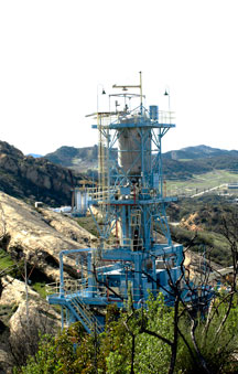 Rocket engine test stand Alpha on Santa Susana site