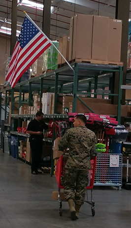 Marine shops at the new ServMart on Camp Pendleton