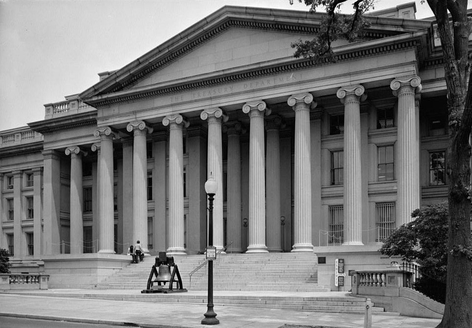 West Elevation, Department of the Treasury