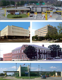 Collage of Vermont federal buildings