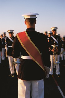 Image of soldiers lined up in uniform