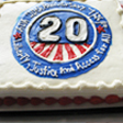 Marcela Abadi Rhoads took this picture of a cake celebrating the ADA's 20th Anniversary