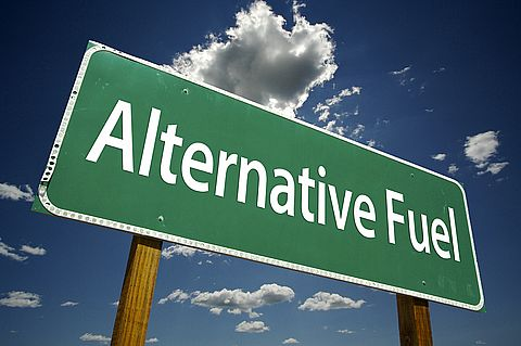 Sign with the word alternative fuel on it