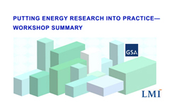Report Cover for Putting Energy Research Into Practice--Workshop Summary