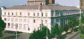 Exterior aerial view of the Findley U.S. Courthouse