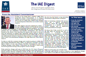 This is a logo of the front page of The IAE Digest