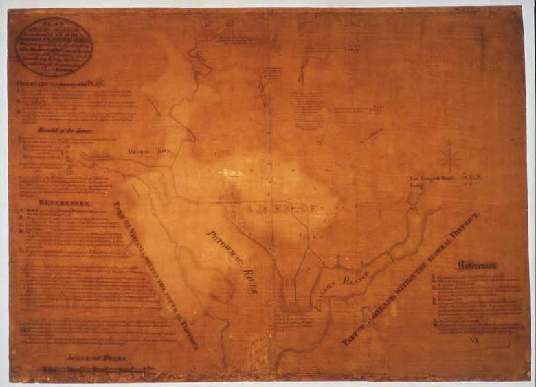 Plan for the City of Washington, Pierre-Charles L'Enfant, 1791