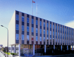 View of the Federal Building in Bemidji, Minnesota.