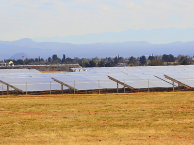 Solar pannels at Fort Huachuca