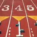 footrace starting lanes