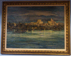 Harbor Scene at Night, Charles Reiffel, Painting