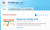 screeenshot of challenge.gov new web site