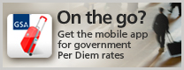 Image of On the Go? Get the mobile app for government Per Diem rates