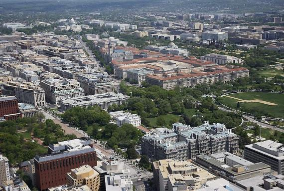 Photo of Aerial view of Pennsylvania avenue area