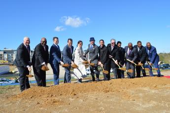 GSA CIS group at Groundbreaking event
